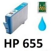 HP 655 XL C  CZ110AE utángyártott cyán tintapatron nagykapacitású