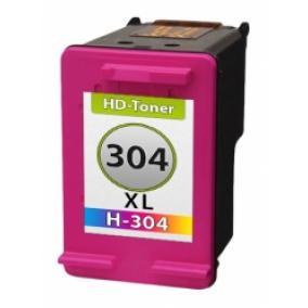 HP N9K07AE No.304XL utángyártott tintapatron színes
