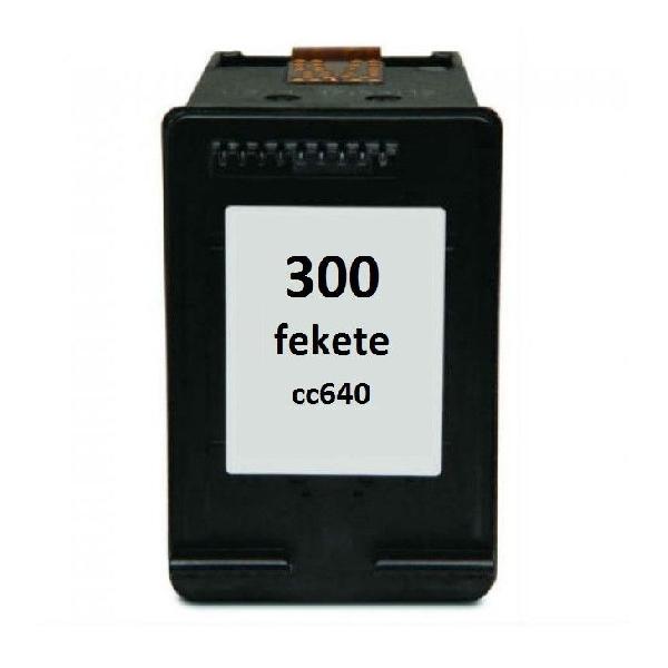 HP 300 Black (CC640) felújított tintapatron fekete