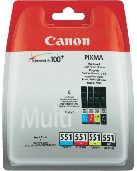 Canon CLI-551 eredeti tintapatron multipack BK/C/M/Y (6509B009)